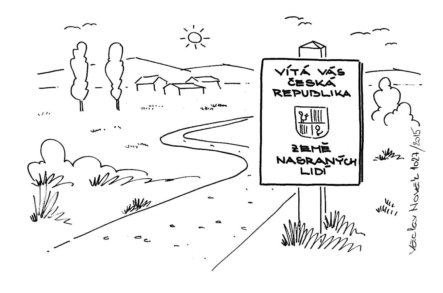 Výběr kreslených vtipů Václava Nováka