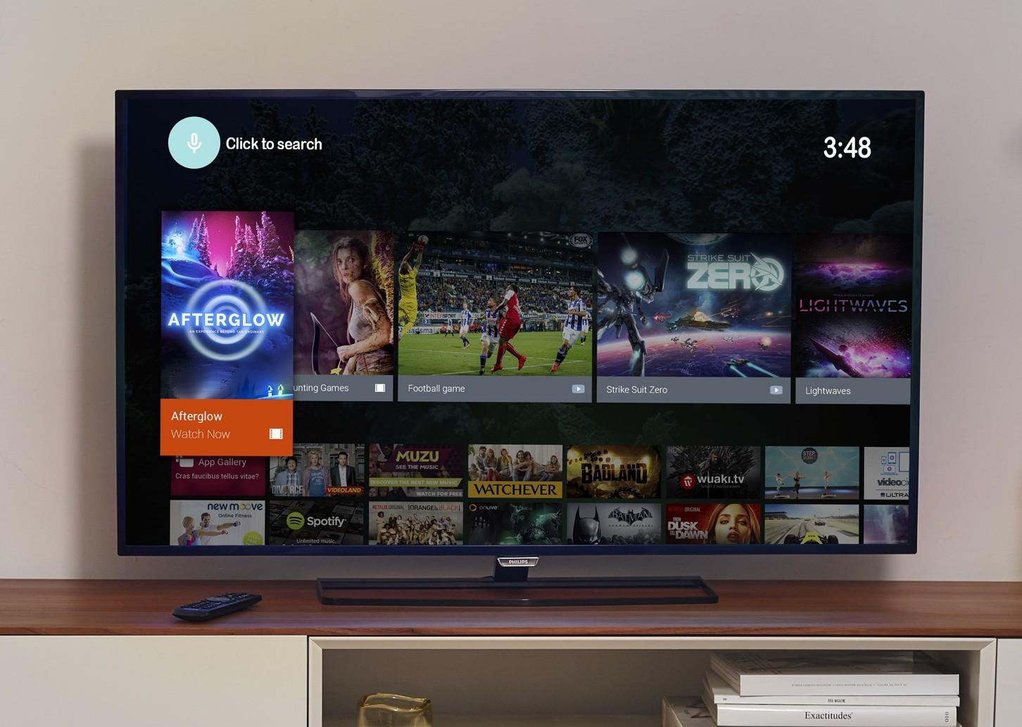 Operační systém Android TV v televizorech Philips (TP Vision)