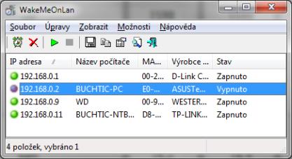Pomocí WakeMeOnLan probudíte jiný počítač v síti