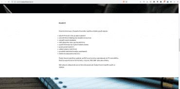 Webová prezentace společnosti Data Information Service ČR s.r.o., IČO 09280529
