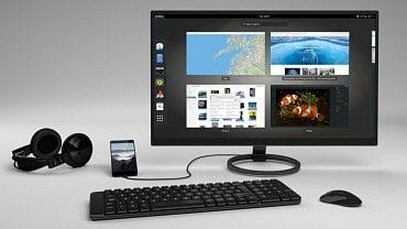 Librem 5 rozšířený na desktop PC