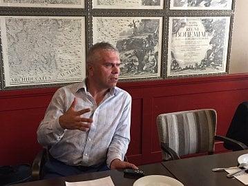 Marek Orawski, předseda představenstva První klubové pojišťovny. Setkání s novináři, Praha. (09/2016)
