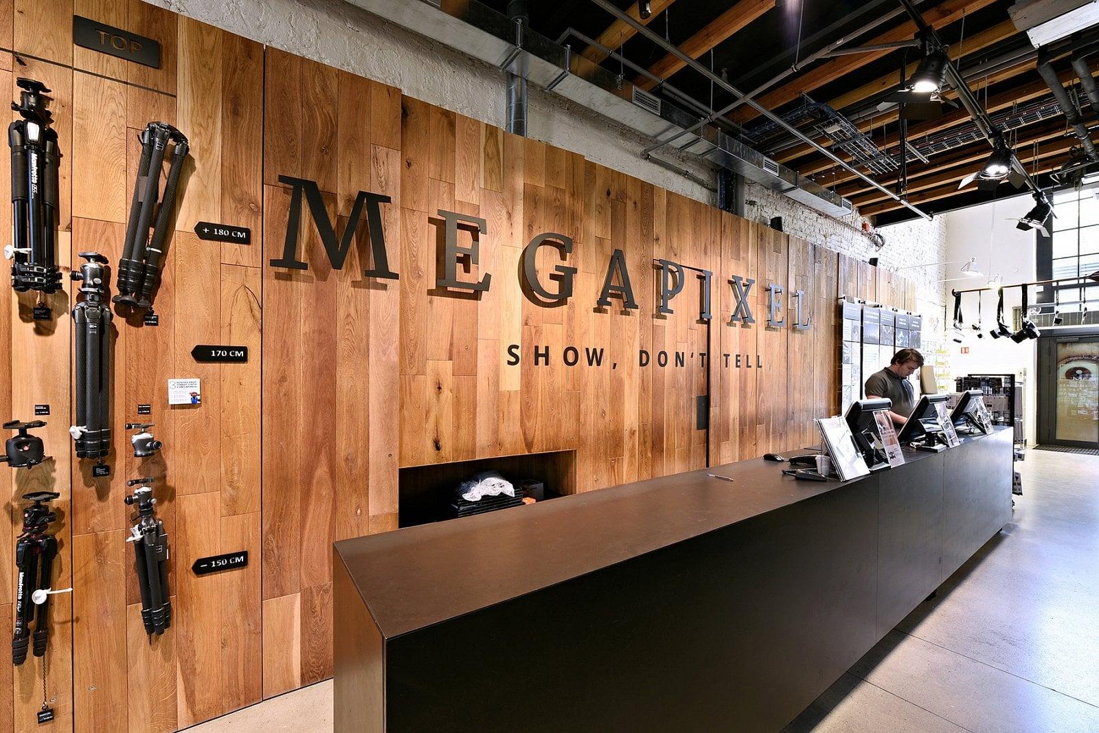 Showroom společnosti Megapixel v pražských Holešovicích
