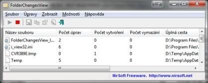 FolderChangesView monitoruje změny v souborovém systému