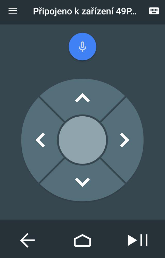 Android TV Remote Control - aplikace ovladače do mobilu