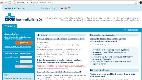 f91de6288 Na klienty ČSOB míří phishing s kopií přihlašovací obrazovky - Lupa.cz