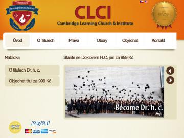 Web Cambridgephd.us nabízející církevní doktorský titul. 30. 12. 2014