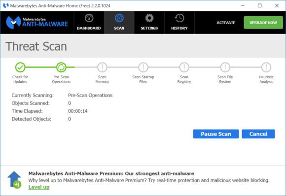 Malwarebytes dokáže odstranit rootkity a další škodlivé programy, které jiné antivirové programy nedokážou zachytit. A co je nejlepší – tyto programy můžete provozovat vedle již nainstalovaných klasických antivirů.