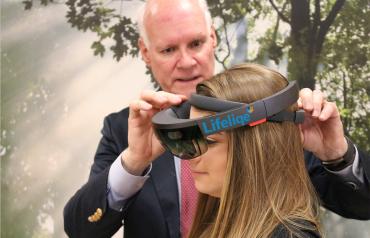 Lifeliqe a HoloLens od Microsoftu