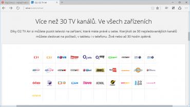 Webové rozhraní O2TV / O2TV Air