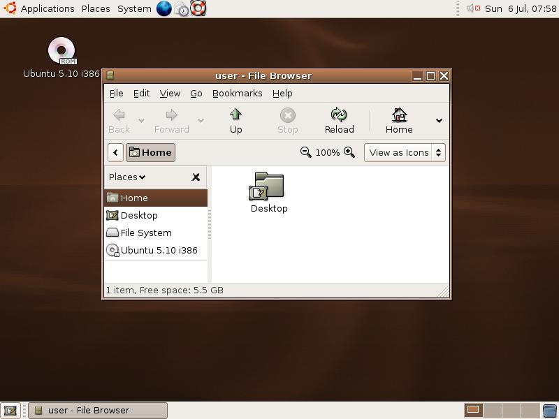Ubuntu 5.10 (Breezy Badger)