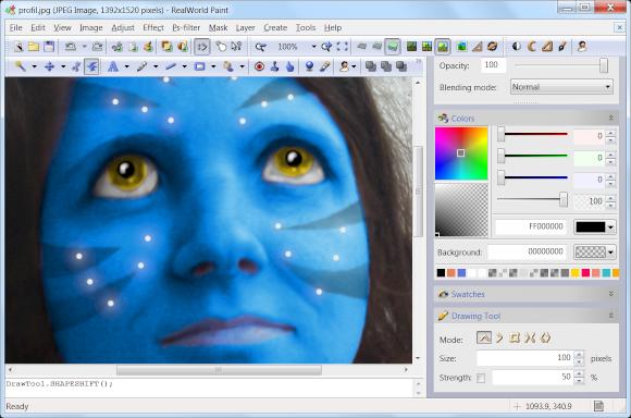 RealWorld Paint je zdarma dostupný Photoshop