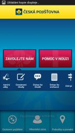 Úvodní obrazovka aplikace.