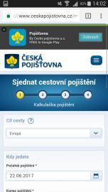 Přesměrování na web České pojišťovny.