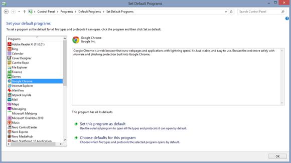 Výchozí programy Windows 8