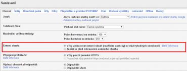 Gmail bude zobrazovat obrázky v mailu. Jak si tuto funkčnost můžete vypnout?