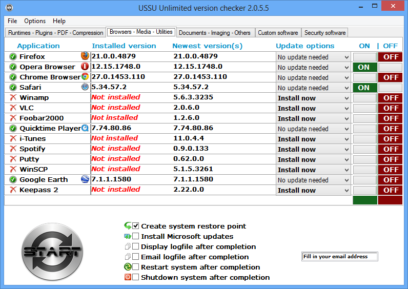 Pomocí USSU Unlimited budete udržovat nainstalované aplikace aktuální