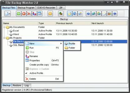 File Backup Watcher zálohuje soubory