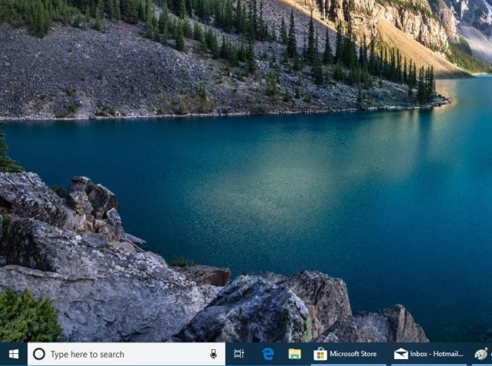 Panel pro vyhledávání se zobrazuje ve spodní části obrazovky, hned vedle ikonky Start.