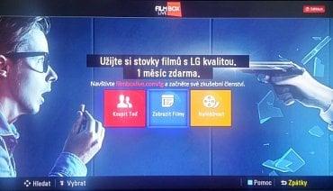 Stovky filmů si na LG zatím neužijete. Ale aplikace Filmbox Live momentálně nepracuje ani na Samsungu a vina výrobců televizorů to není.