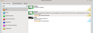 Správce rozšíření ve VLC 2.2