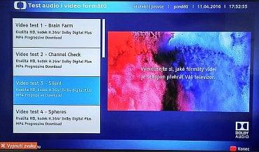 Česká televize v testovací části HbbTV stále vysílá ukázky s kodekem H.264, které jsou už od podzimu 2014, kdy byl oznámen přechod na H.265/HEVC, zhola k ničemu. Proč to není schopna změnit ani když ji na to člověk upozorní, opravdu netuším.