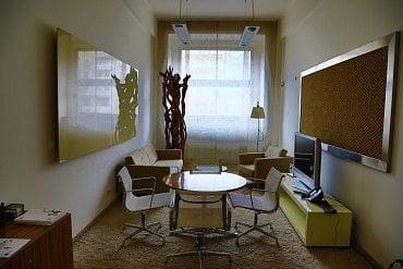 Jednací prostory pro klienty privátního bankovnictví.