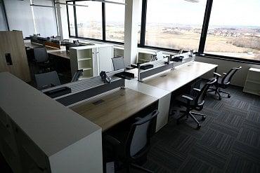 Příprava nového open space prostoru pro zaměstnance.