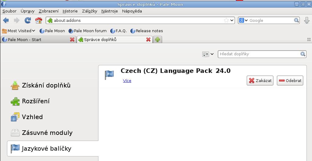 Salix: doplňky webového prohlížeče