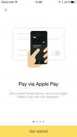 Aplikace Yandex.Money sama nabídne možnost propojení s Apple Pay.