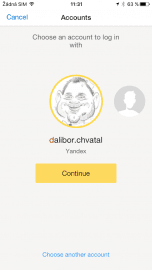 Stačí se jen přihlásit na účet Yandex.
