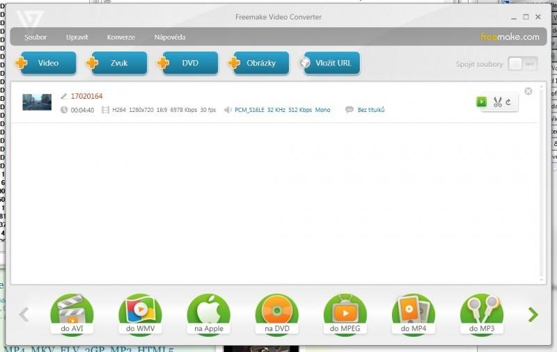 Freemake Free Video Converter převede libovolný multimediální formát
