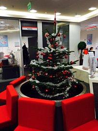 Vánoční stromek v UniCredit Bank