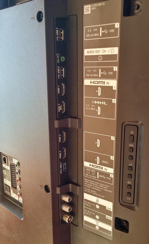 Sony KD-65S900C - rozhraní