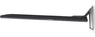 """Ladný profil televizoru při pohledu z boku na kterém jsou vidět i LED diody systému Ambilight (to je ta """"přerušovaná čára"""" blíže k vám)."""