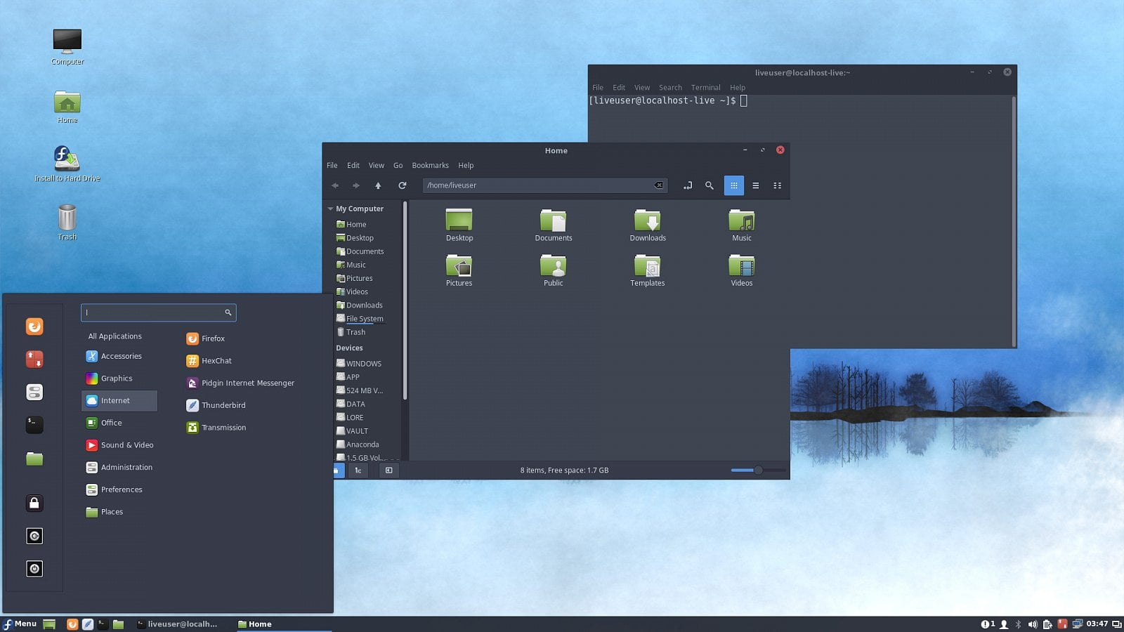 Fedora 29 Workstation