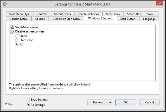 Když ve Windows 8 zakážete používání aktivních rohů (active corners), pak se zároveň zbavíte vyskakovacích oken, která se budou objevovat pokaždé, když posunete ukazatel myši k okraji obrazovky