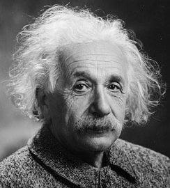 Albert Einstein, Princeton 1934.