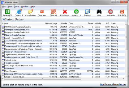 Pomocí Windows Seizer můžete spravovat běžící procesy