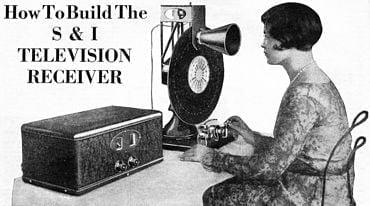 Domácí televize z roku 1928.