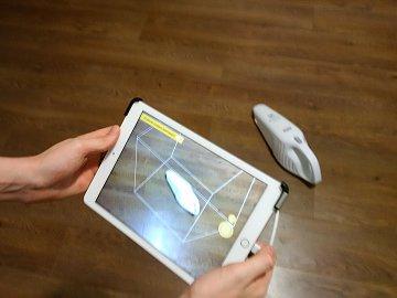 Nasnímání 3D objektu pomocí tabletu a senzoru.