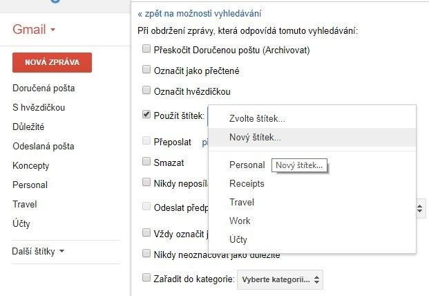 Nastavte si Gmail tak, aby přesměrovával zprávy ze staré e-mailové adresy na novou