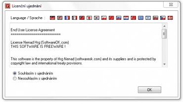 <p>Při instalaci si hned můžete vybrat jazyk aplikace</p>