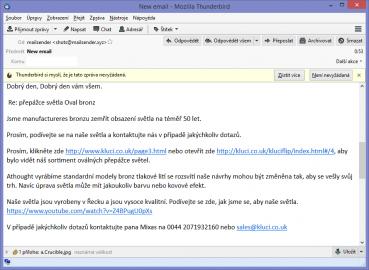 """""""Zemřít obsazení světla"""" a jiné lahůdky? Další ukázka jak to nedělat. Google Translate (či jiný strojový překlad) a spam."""