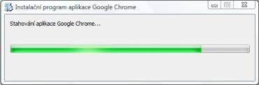 Stahování aplikace Google Chrome