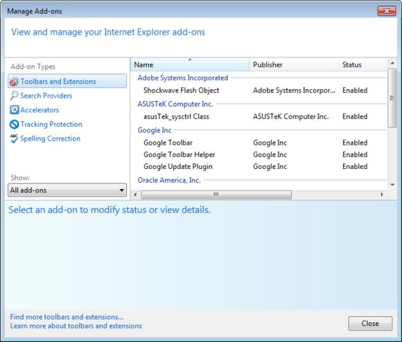 Internet Explorer rozšíření
