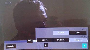 Televizor v HbbTV excelentně ukazoval i na prostém rozlišení 576p!