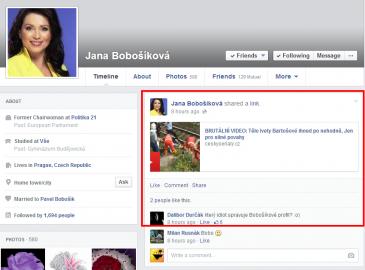 Správce Stránky Jany Bobošíkové se nechal trapně nachytat