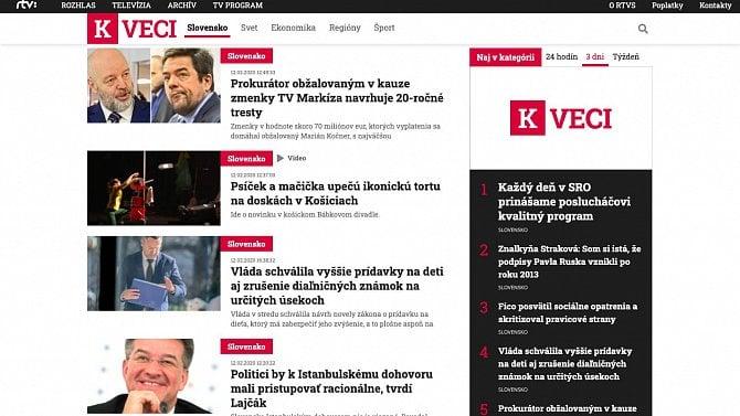 [aktualita] Slovenská veřejnoprávní televize spustí vlastní zpravodajský web