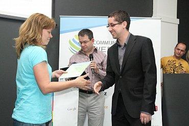 Pavel Fidrmuc (iDnes) tentokrát přebírá cenu v kategorii Média.